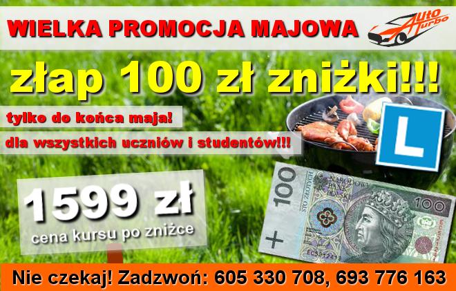 OSK-AUTO-TURBO-wielka-promocja-majowa-dla-wszystkich-uczniow-i-studentow-100-zl-znizki